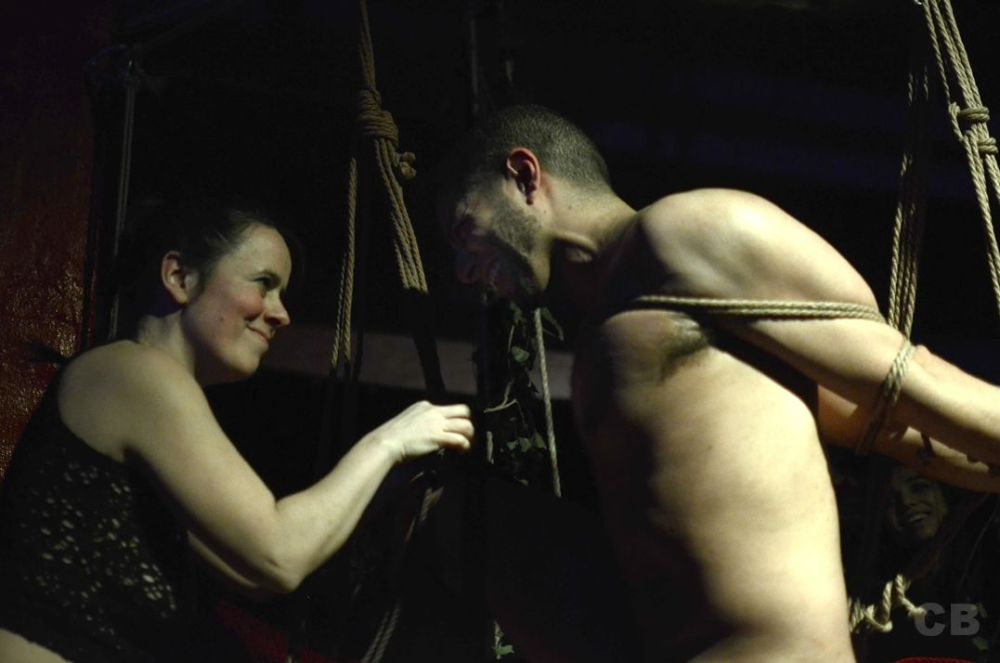 CocoColores Bondage performance for show My Anus is my Nightmare, by Pina Brutal